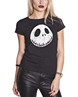 The Nightmare Before Christmas T Shirt Cracked Face Official Womens Junior Fit