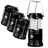 Amazon Price History for:Etekcity 4 Pack Portable Outdoor LED Camping Lantern with 12 AA Batteries (Black, Collapsible)
