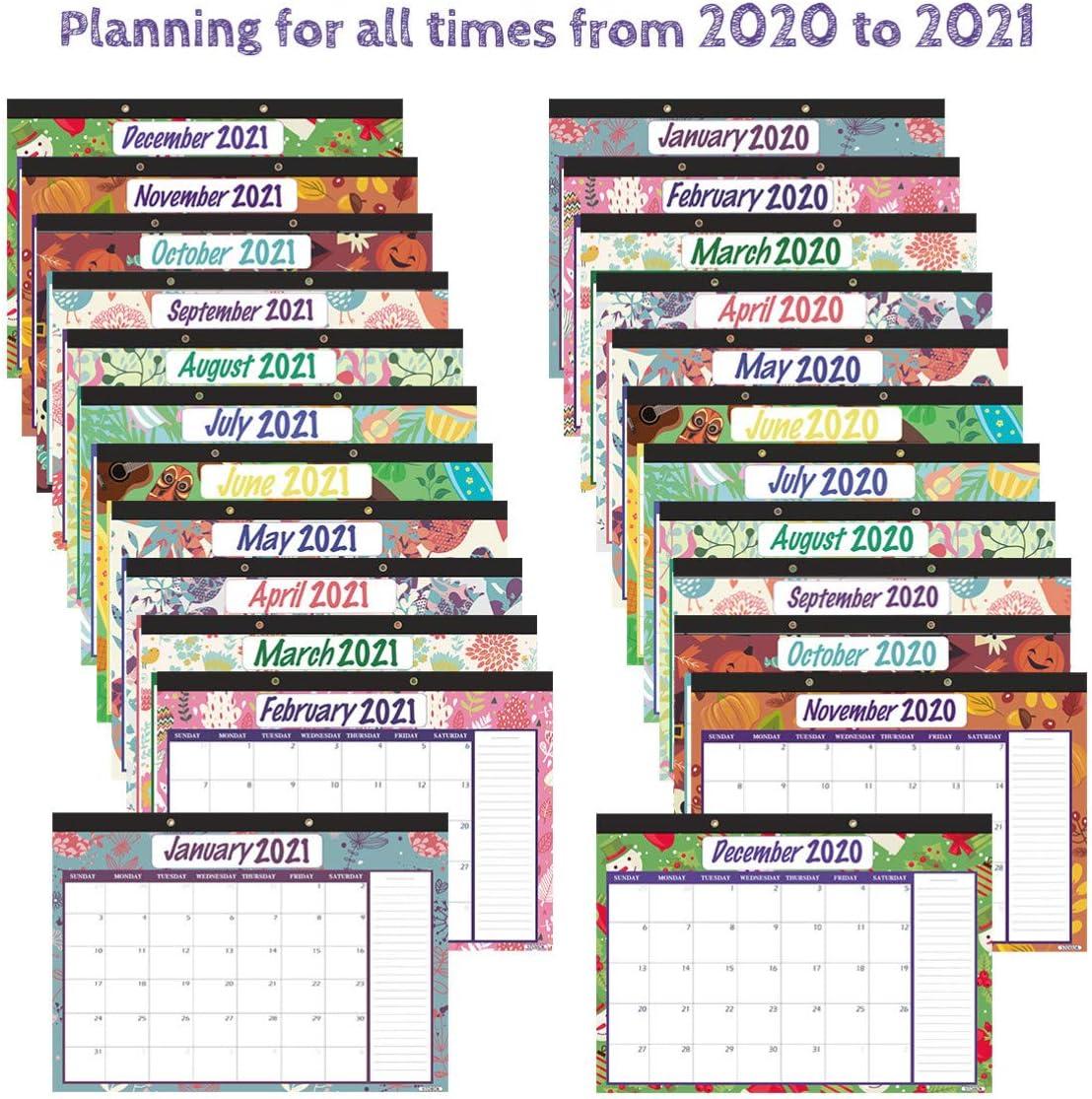 STOBOK Calendario da Tavolo 2021 Calendario da Tavolo 2021 da Tavolo Calendario da Tavolo per Lanno Accademico per Scuola Ufficio Casa