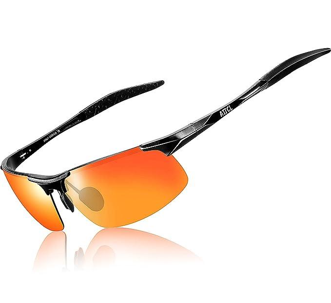 ATTCL® 2016 di nuovo modo di guida Metal Frame Occhiali da sole polarizzati per gli uomini 8177 Grigio 56adc7QCTJ