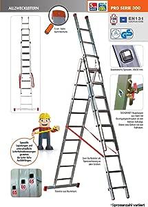 Multiusos escalera escalera de alzweck (3 piezas, travesaños 3 x 6 FACAL serie300: Amazon.es: Bricolaje y herramientas