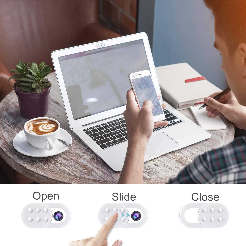 AJOXEL 6 Unidades Webcam Cubierta, Webcam Cover Cubierta de la Cámara Web Ultra Fino Tapa Camara Portátil Protege Privacidad y Seguridad para Macbook Pro, ...