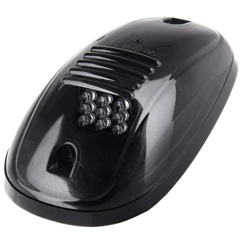 WOVELOT 5Pcs Lentille Fumee Noire Ambree LED Phare De Toit,Feux De Gabarit,Remplacement De La Lampe De Toit,Ensemble T10 pour Camion SUV pour 2003-2018 Dodge Ram 1500//2500//3500//4500//5500