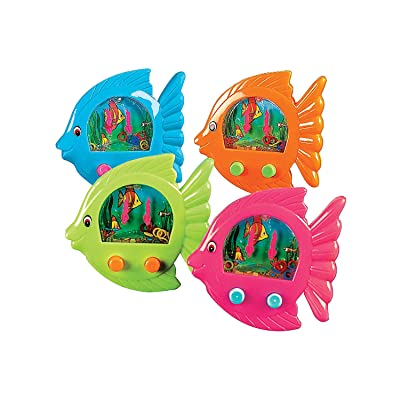 Fun Express - Fish-Shaped Water Games - Toys - Games - Indoor & Mini Game Sets - 12 Pieces: Toys & Games