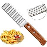 IBEET Stainless Steel Crinkle Cut Knife, Garnishing Potato Dough Waves Crinkle Cutter Slicer