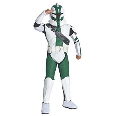 Rubies Star Wars Clone Wars Child's Deluxe Commander Gree Costume and Mask, Medium: Toys & Games