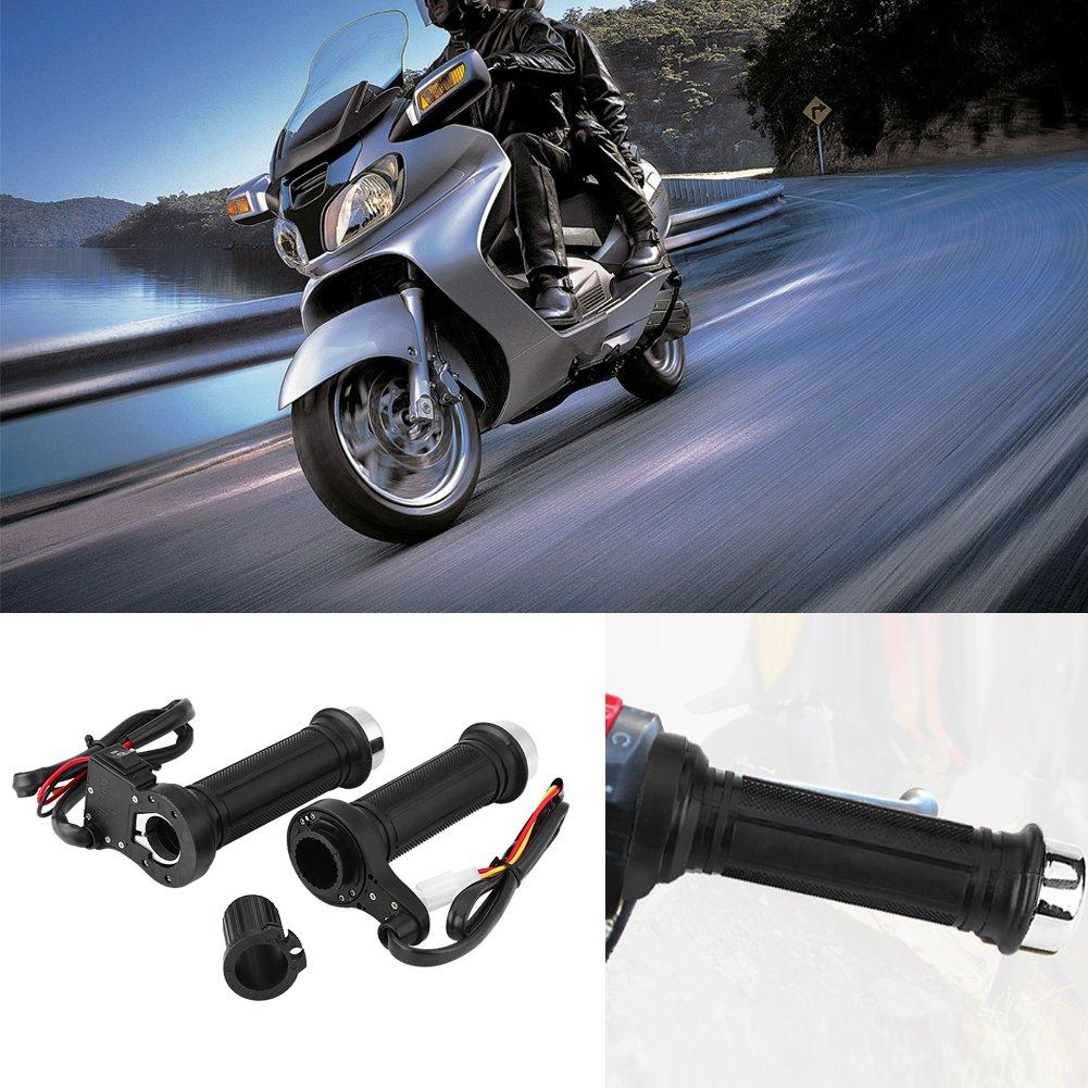 Qiilu QL04140 1 Coppia 22 Millimetri 7//8 \ Motociclo Universale Elettrico Caldo Riscaldato Maniglie Calde Manubrio