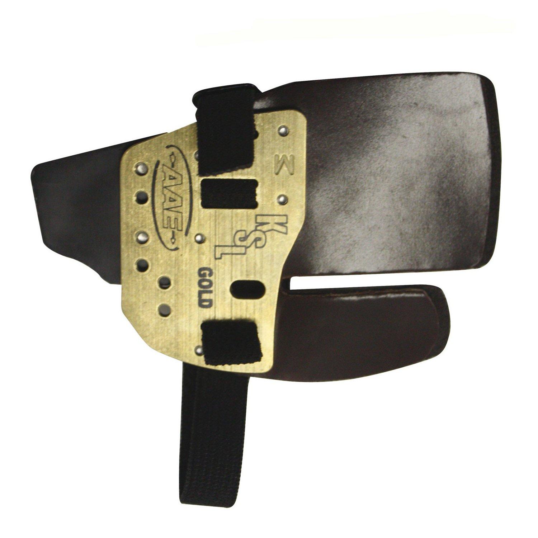 Gold Finger Tab Designed by Coach Kisik Lee for Professional Archers - Medium/Left Hand