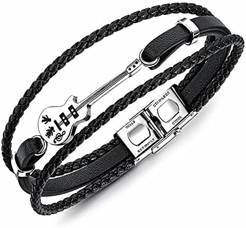 bracelet cuir homme guitare