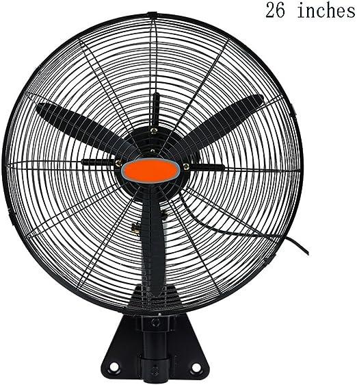 ZXQZ Fan eléctrica montada en la Pared Ventilador Industrial Ventilador metálico Fuerte Motor de Cobre Velocidad Ajustable del Viento Ventilador eléctrico (Tamaño ...
