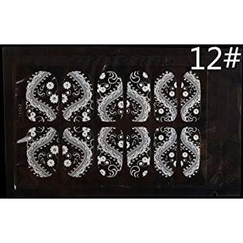 Amazon Com Stencils For Henna Tattoos Aolvo Nail Polish Sticker