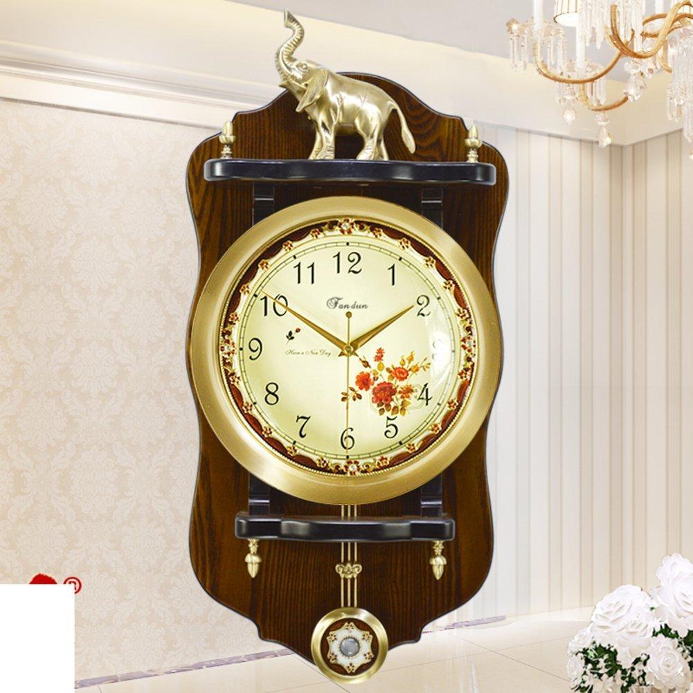 GBT Europeantyle Horloge murale en bois antique - Salle de séjour créative Horloge murale à bascule - Pendentif