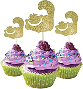 Cat inspired Party Cupcake Topper cardstock Color Gold 12 pieces per Pack Pack Decoration