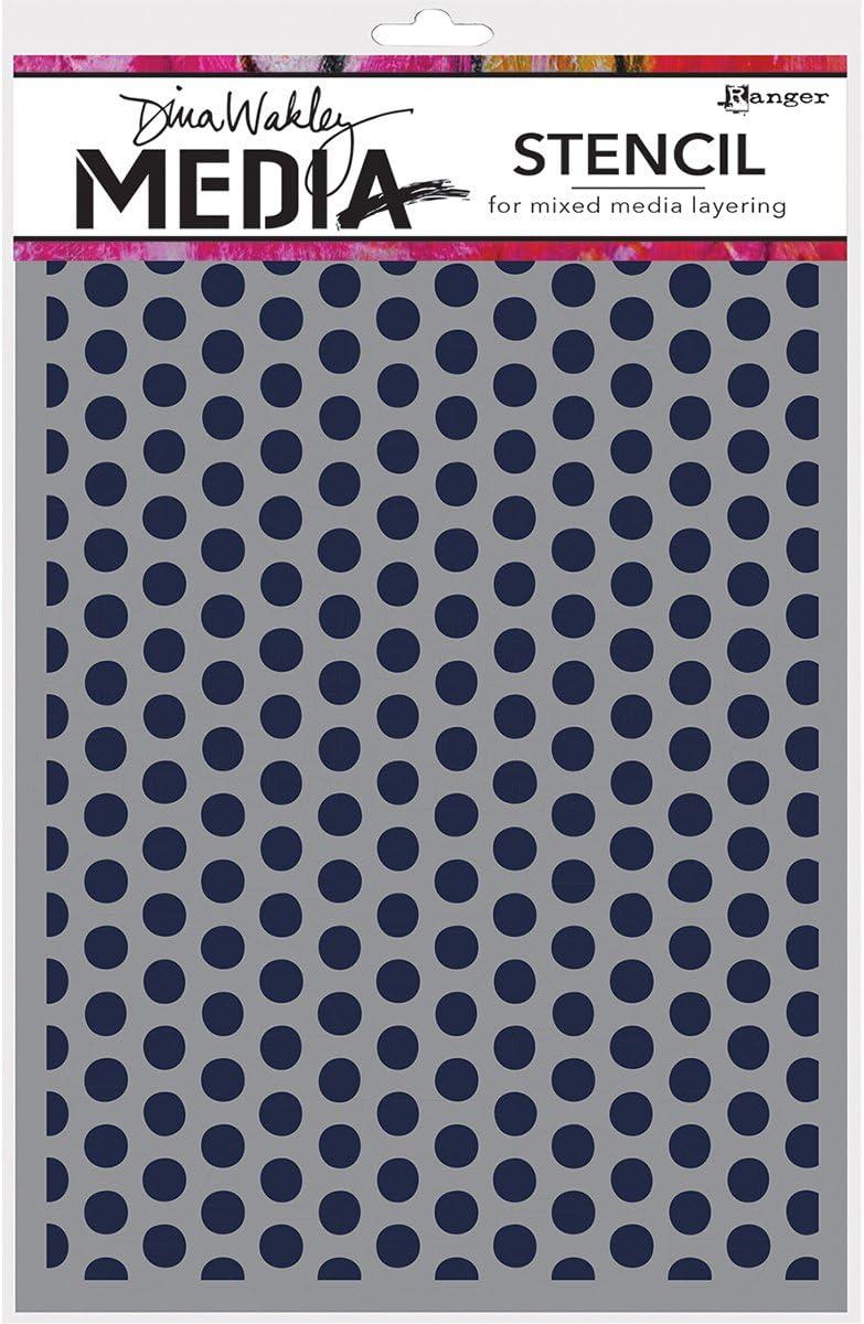 Ranger Mds52425/Dina Wakley m/édias Pochoirs Multicolore 9/x 15,2/cm