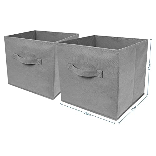 Beau Top Home Solutions Pack Of 2 Large Foldable Square Canvas Cube Storage Box  Collapsible Fabric Cubes