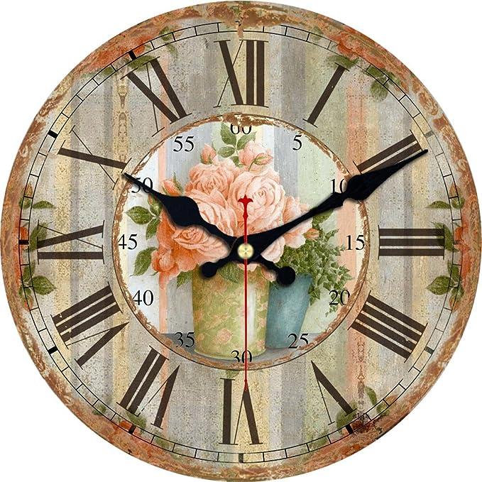 Silent No Ticking Round Quartz Movement Wall Clocks