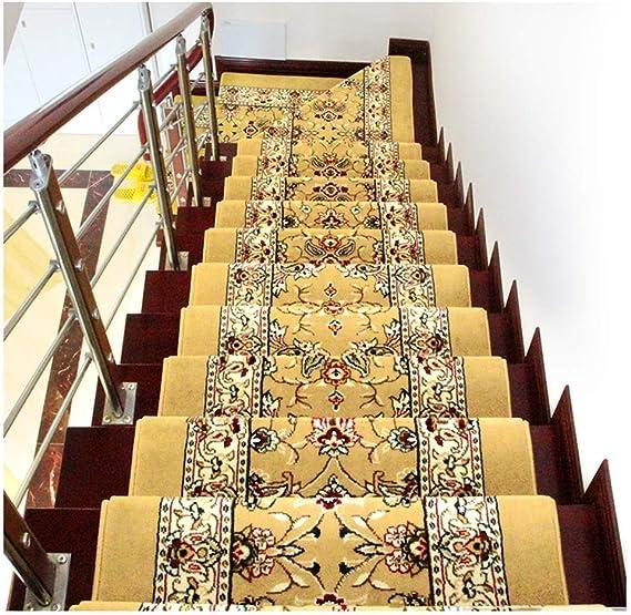 JYY 13 Piezas – Alfombras para escaleras Alfombrilla para peldaños Escalón Alfombra Duradero, Antideslizante, de Protección Ratón Color: Oro, Rojo 65x24cm esteras (Color : Gold, Size : 65x24x3cm): Amazon.es: Hogar