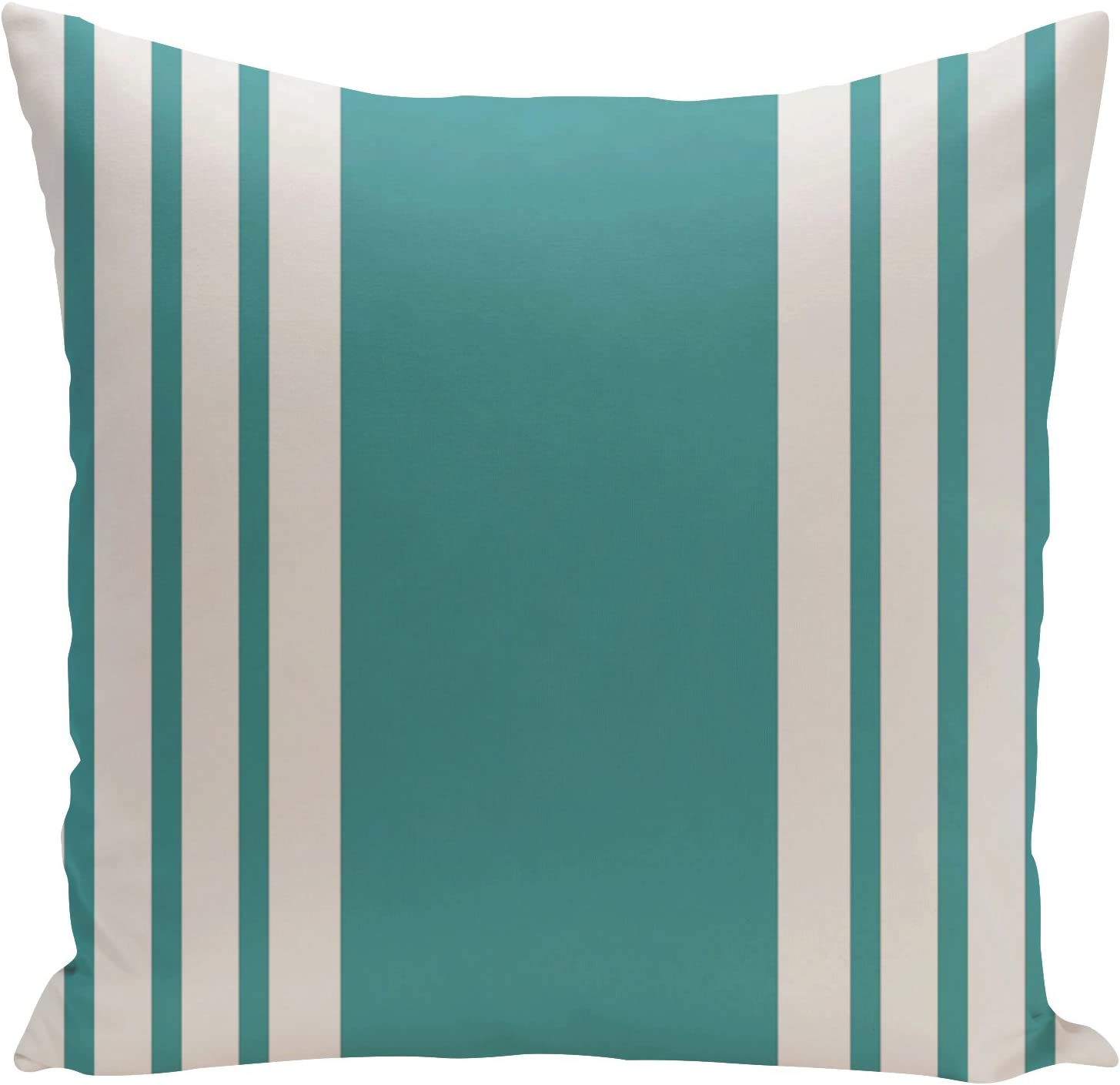 E by design O5PS-N8-Lake_Blue-16 Printed Outdoor Pillow, 16 x 16