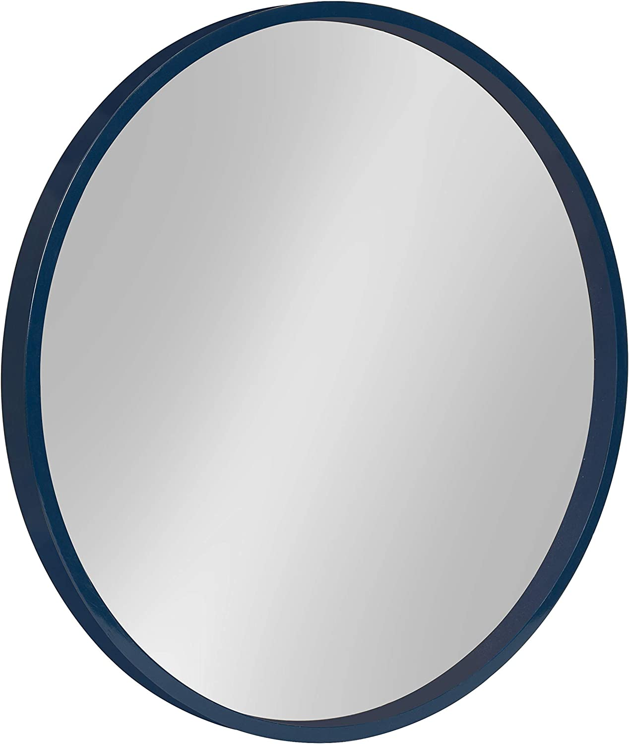 Kate and Laurel Travis Round Wood Accent Wall Mirror Gold 31.5 Diameter