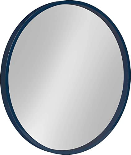 Kate and Laurel Travis Round Wood Wall Mirror