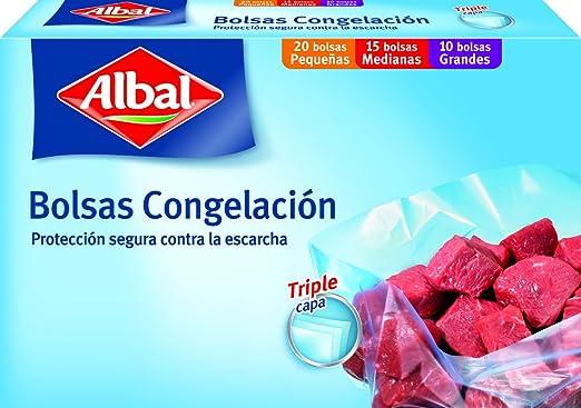 Albal - Bolsas Congelación - Triple capa - 45 bolsas - [Pack de 3]