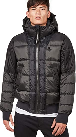 c7a77b98a49 G-Star Men's Whistler Quilted Bomber Jacket, Black, Large: Amazon.co ...