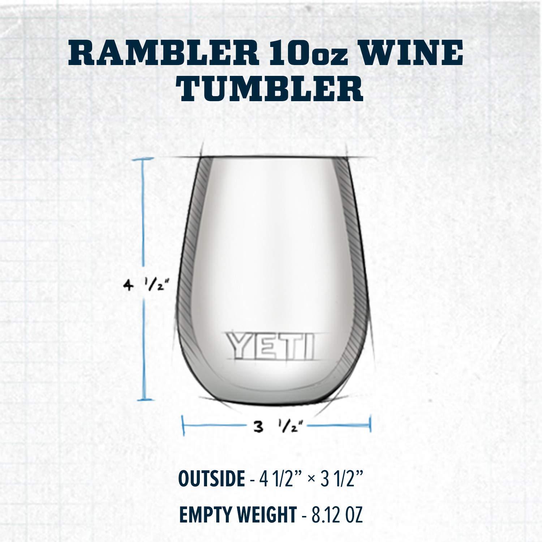 6941870193d YETI Rambler 10 oz Stainless Steel Vacuum Insulated Wine Tumbler