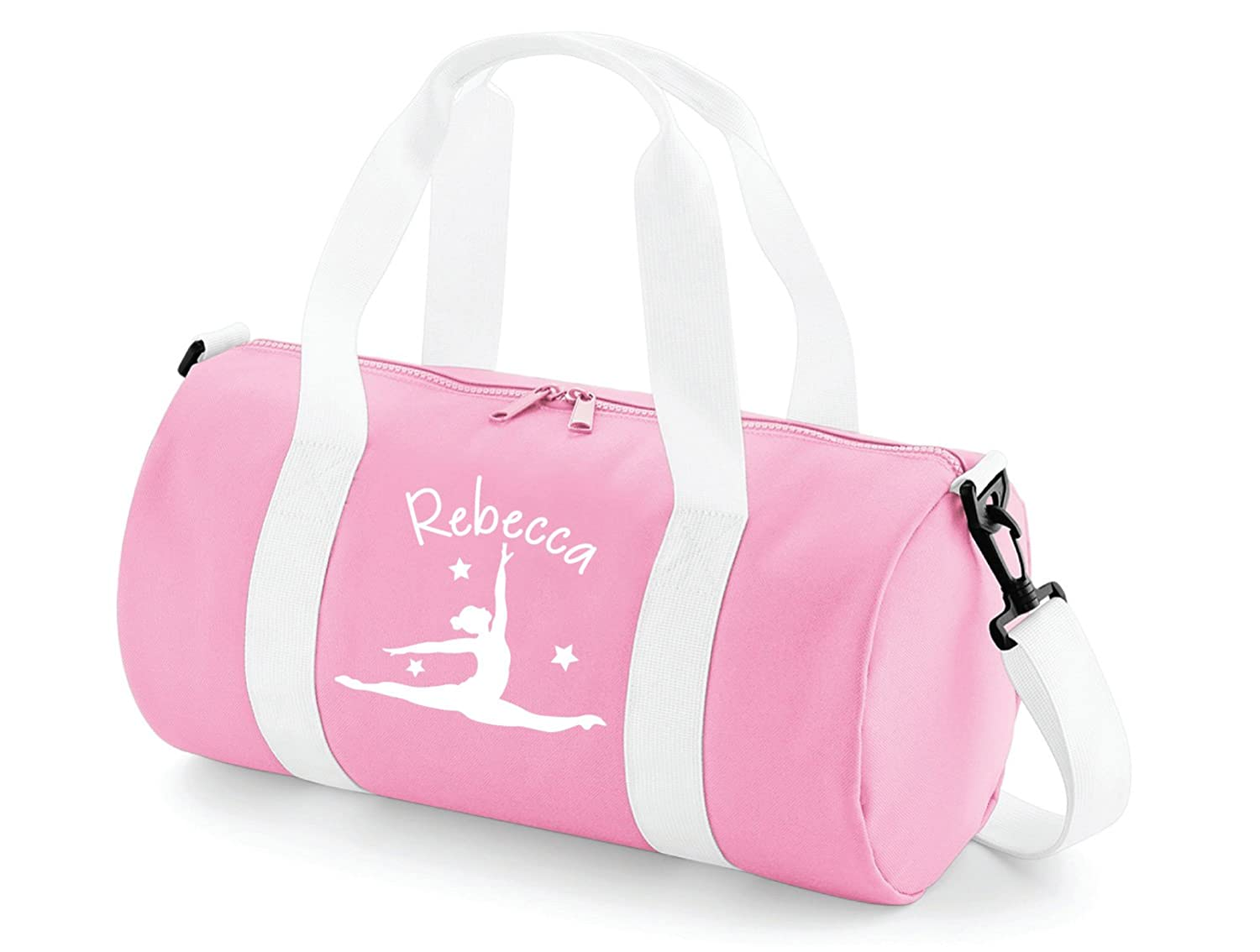Absolutely Top Girls Personalised Gymnastics Splits Barrel Bag