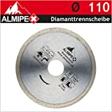 Diamanttrennscheibe für Keramik, Marmor und Fliesen Ø 110 x 22,2/20 mm