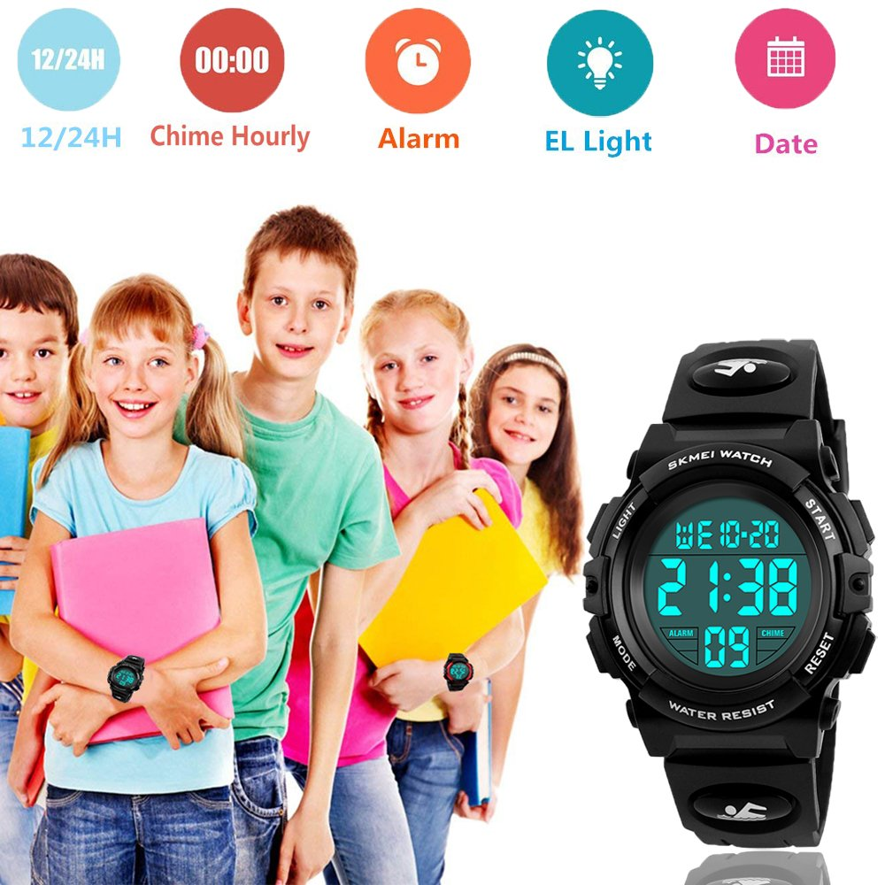 Amazon.com: Mico Kids Digital Watch,Boys Sports Waterproof Led Watches with Alarm,Wrist Watch for Boys Girls Childrens, Best Gifts for Boys (Black): Sports ...