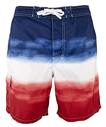 67023518e Polo Ralph Lauren Men s Big   Tall Kailua Ombre Swim Trunks-RWB Ombre-2XB