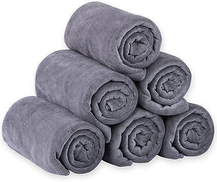 Amazon.com: JML Juego de toallas de microfibra para el baño ...