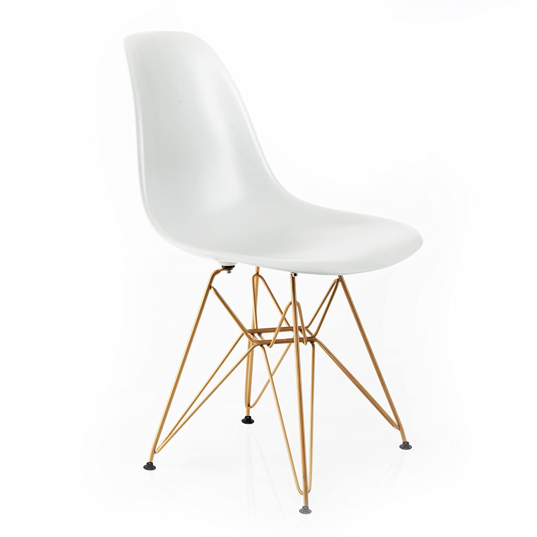 Design Guild Banks schwarz Stuhl mit Gold Beine Modern weiß
