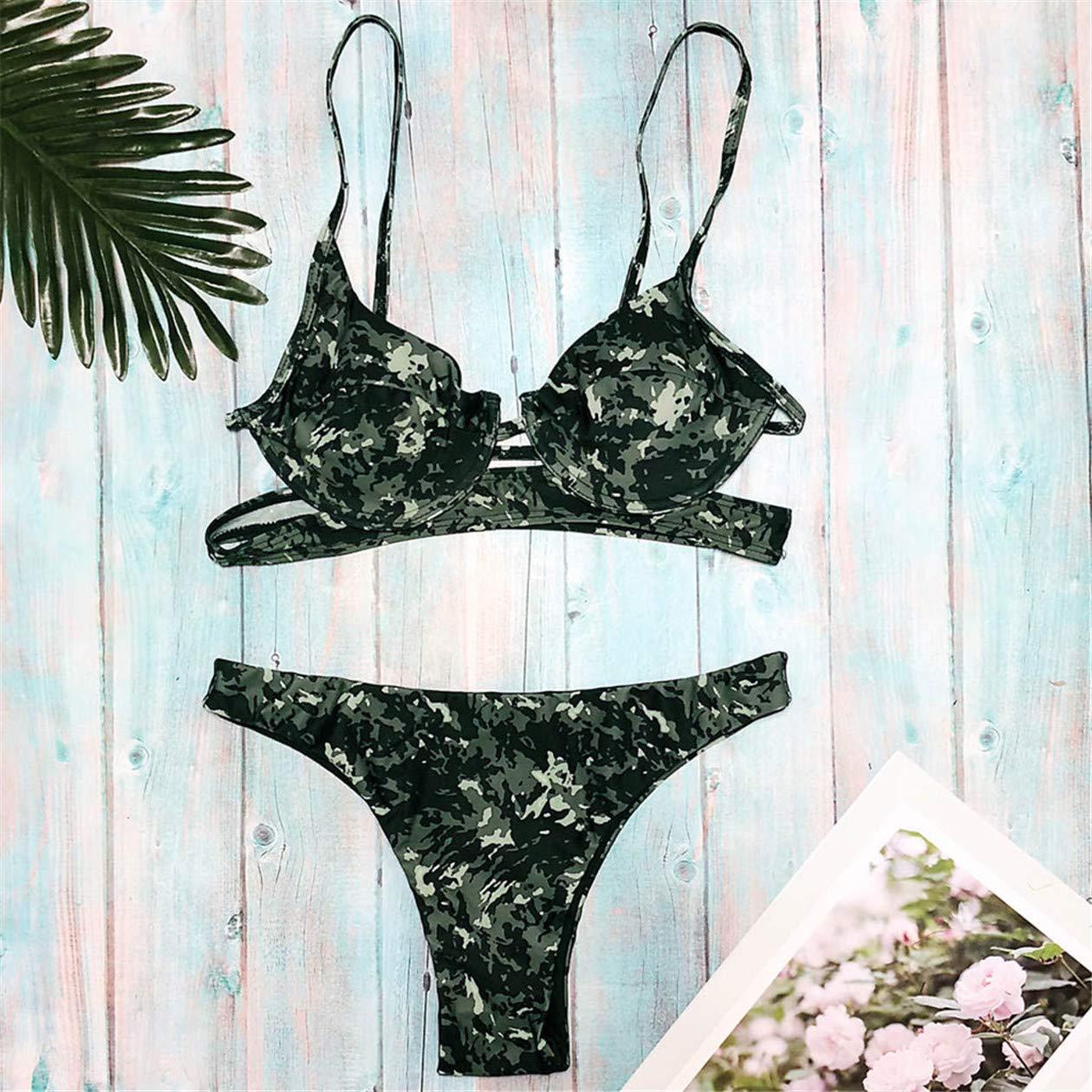 bf890b5cca Maillots de Bain Femme ZahuihuiM Beachwear 2019 Nouveau 2 Pièces Fahsion  Sexy Imprimé Bikini Maillot de Bain Maillot de Bain pour Les Vacances:  Amazon.fr: ...