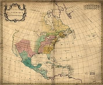 Amazon Com Map 1755 Carte De L Amarique Septentrionale 1754 North