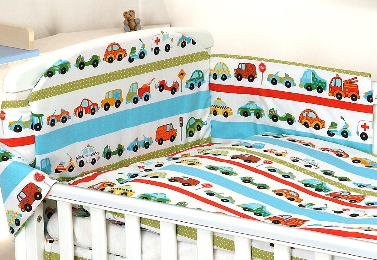 Duvet Cover COT Bed 140X70, Unicorn ON Pink Bumper Pillow CASE 3PCS Baby Bedding Set fit Cot 120x60 or Cot Bed140x70CM