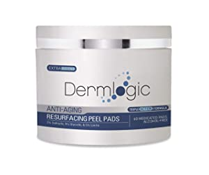 Anti Aging Resurfacing Peel Pads-Triple action chemical peel pads combined with Glycolic, Lactic, and Salicylic Acids. Smooth's fine lines, wrinkles, dark spots, and imperfections to enhance the skin.