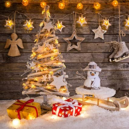 3 5 days delivery 7x5ft christmas gift box photography backdrop wood wall christmas tree star - Amazon Christmas Delivery