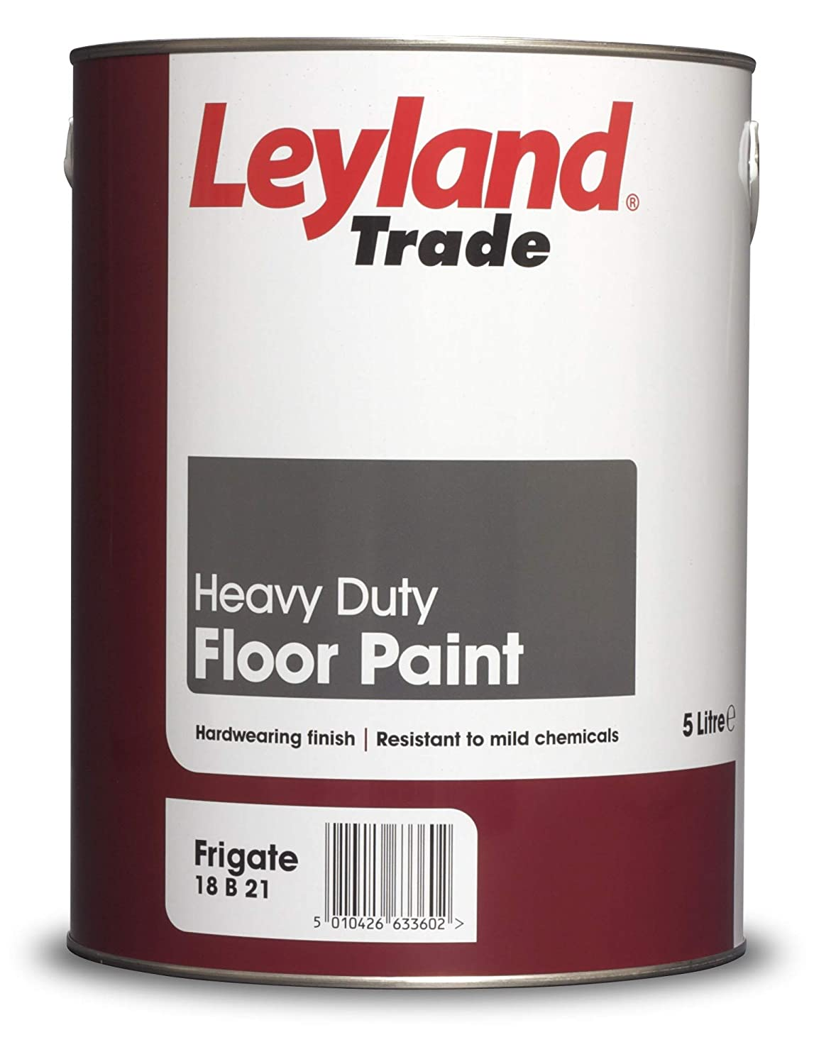 Leyland Trade 264615 Heavy Duty Floor Paint, Frigate, 5 PPG