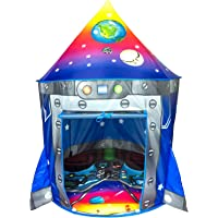 Rocket Ship Play Tent Playhouse | Unique Space and Planet Design for Indoor and Outdoor Fun, Imaginative Games & Gift | Foldable Playhouse Toy + Carry Bag for Boys & Girls | by Imagenius Toys