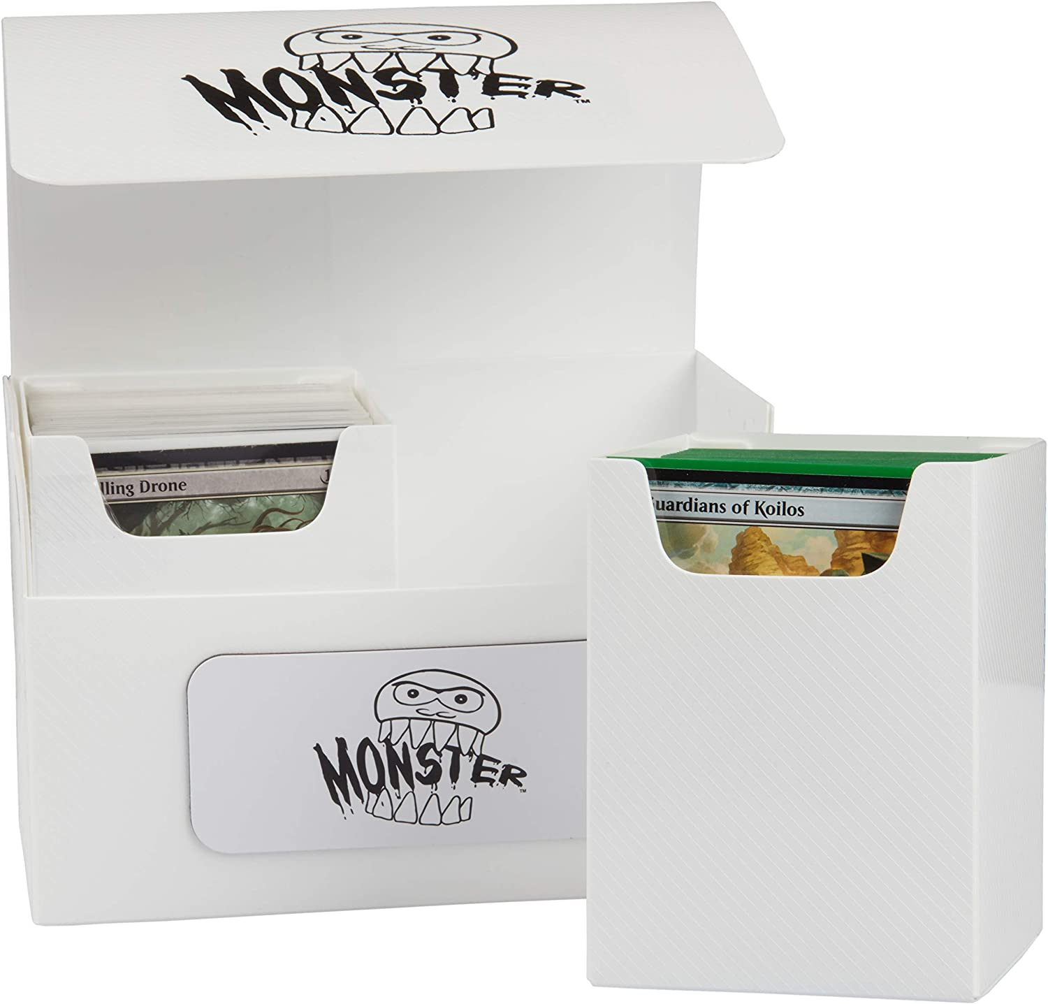 Two XL Removable Compartments Hold 200 Double Sleeved Game Cards Extra Large Magnetic Deck Box MTG Commander Big Case