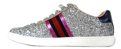 gucci italia - Zapatillas para Mujer Plateado Plateado: Amazon.es: Zapatos y complementos