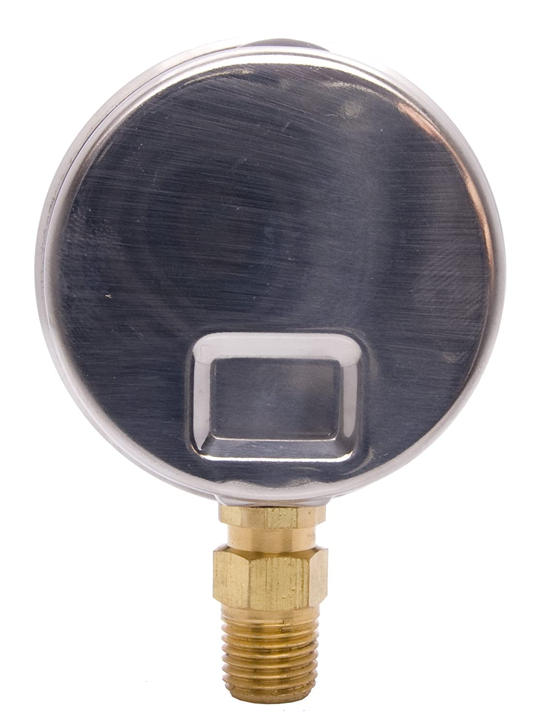 Stainless Steel Case 1//4 NPT Lower Mount Connection 0-160PSI 2-1//2 Oil Filled Pressure Gauge Brass