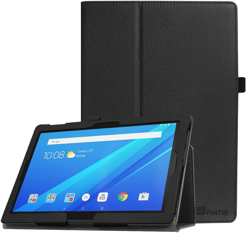 Fintie Case for Lenovo Tab 4 10 / Tab 4 Plus 10 / AT&T Lenovo Moto Tab/TAB E10 TB-X104F 10.1-Inch Tablet - Premium PU Leather Folio Stand Cover with Auto Sleep/Wake, Black