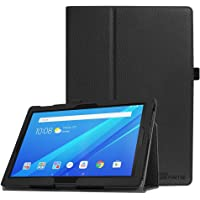 Fintie PU Leather Folio Cover with Auto Sleep/Wake for Lenovo Tab4 10.1-Inch Android Tablet, Black