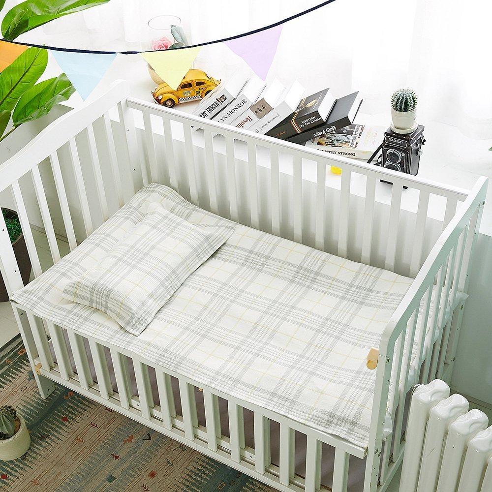 Oasis Hemp Sheet Pillowcase Sets Baby Summer Sleeping Mat Sheets Pack Of 2, 1 Sheet And 1 Pillow Towel for Kindergarten Or Home - (LJT 7402-JWTD)