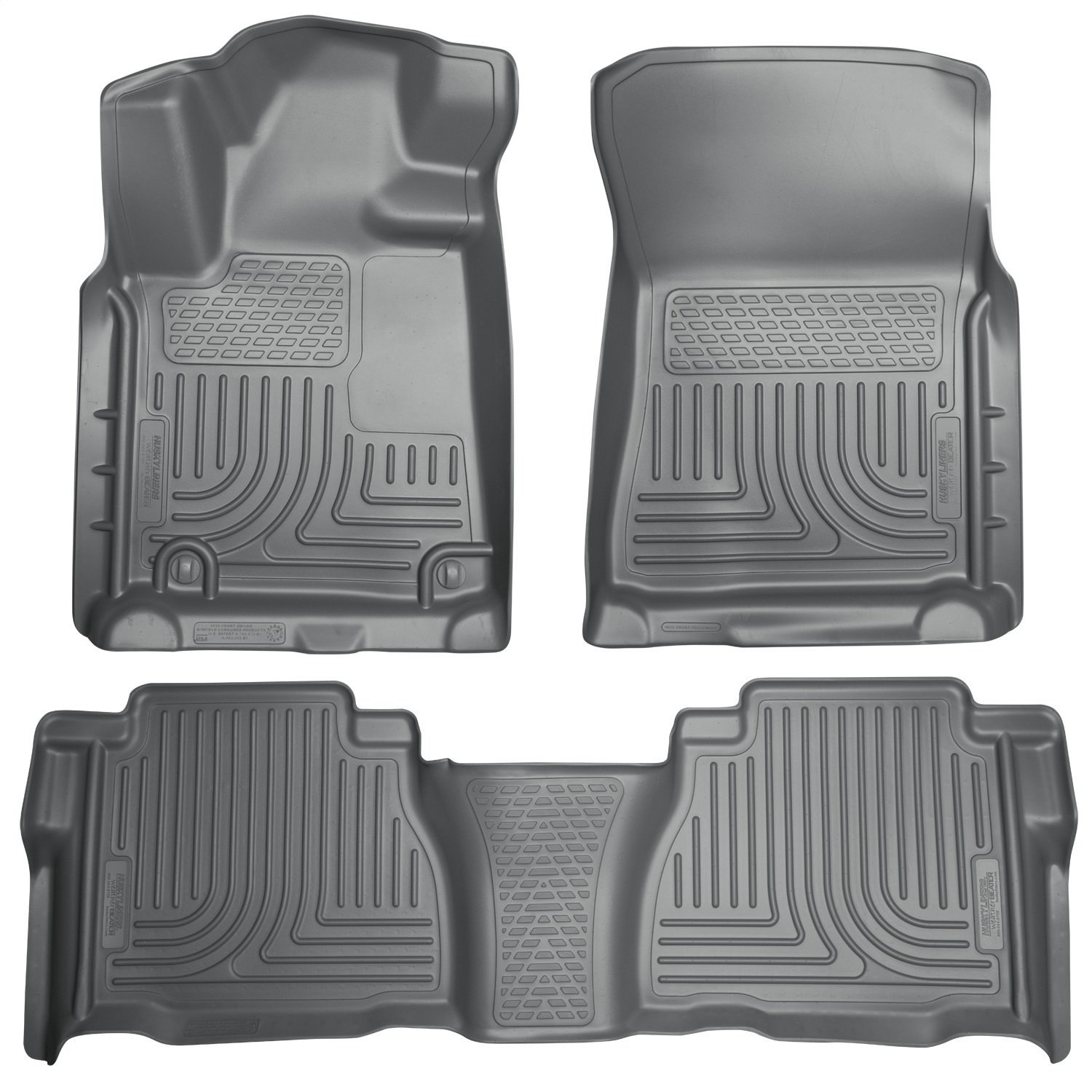 Husky Liners 98581 Black Weatherbeater Front /& 2nd Seat Floor Liners Fits 2007-2011 Toyota Tundra CrewMax Double Cab