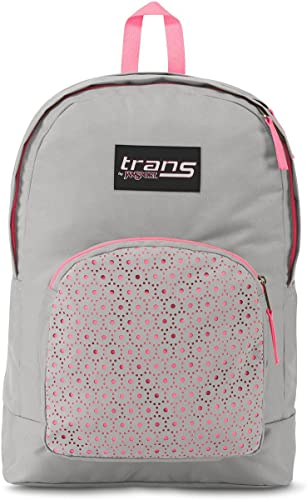 Trans by JanSport Overt 17.5 Laser Lace Backpack – Gray Pink