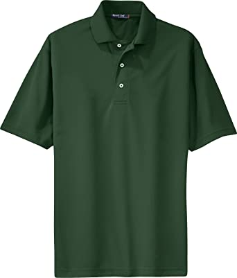 dbcf2dbf6 Image Unavailable. Image not available for. Color: Sport-Tek - Dri-Mesh Polo.  K469 - Forest Green_M