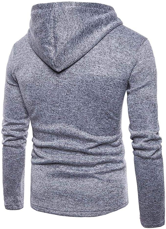VITryst-Men Brumal Thicken Fleece Pure Colour Jacket Coat